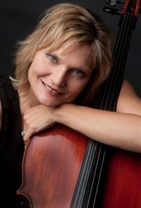 Photo of Anne Lerner-Wright with her cello